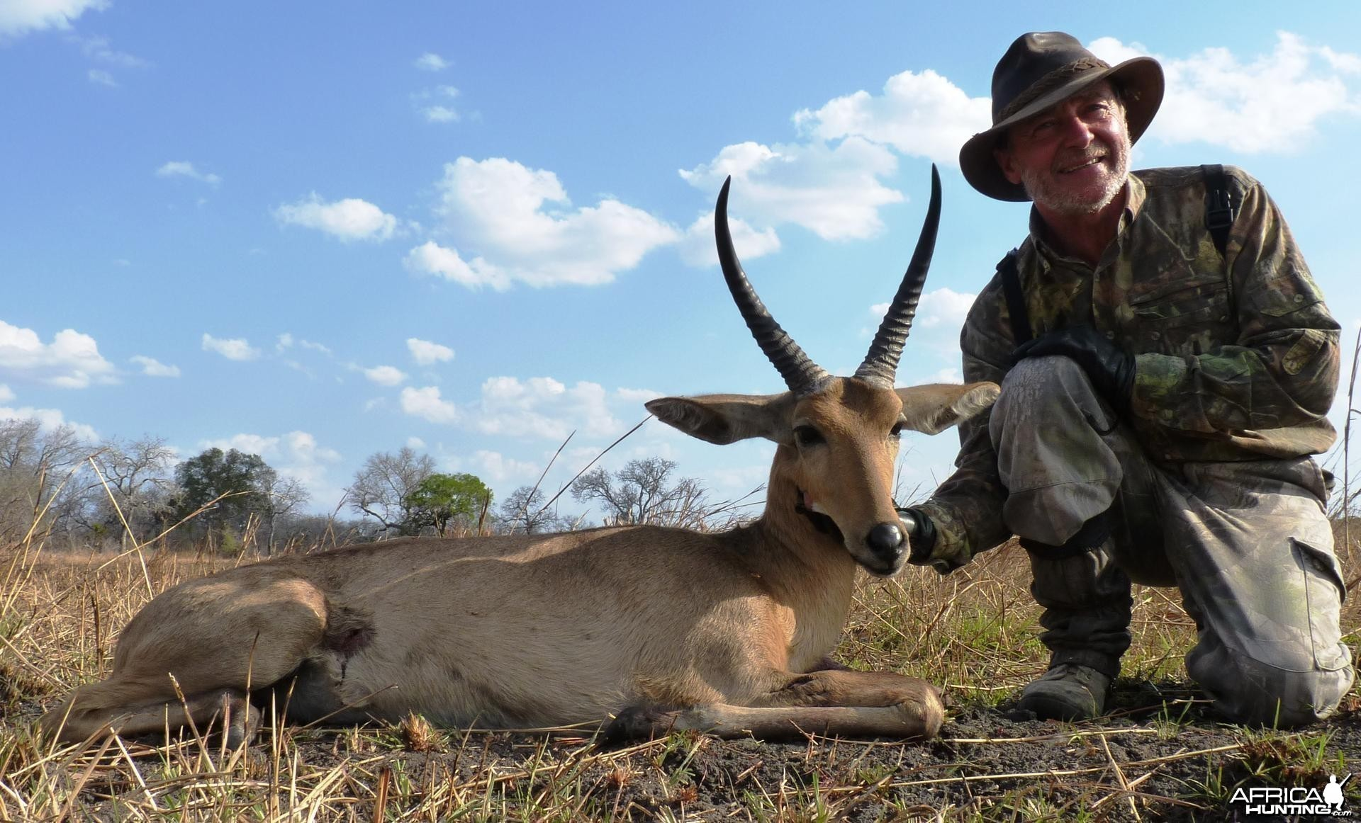 Cob des Roseaux hunted in the Selous, Tanzania