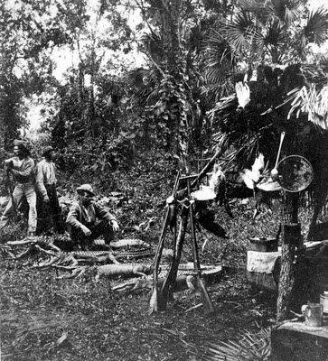 Alligator Hunting Camp, turn of the century. Possibly Florida, USA.jpg