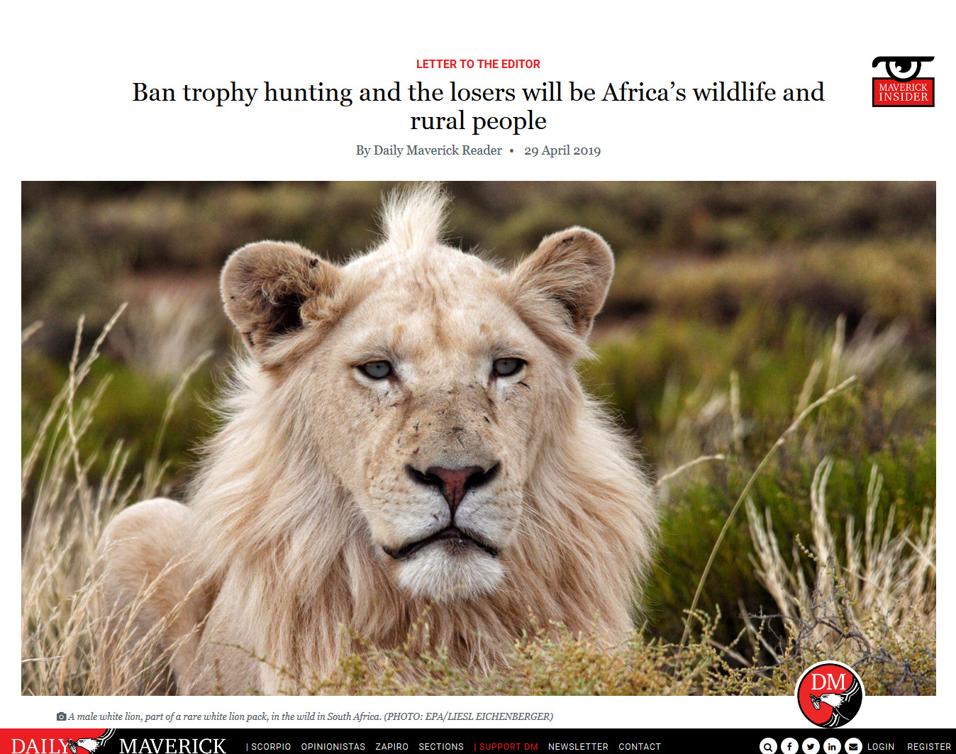 Ban trophy hunting and the losers will be Africa's wildlife and rural people.jpg
