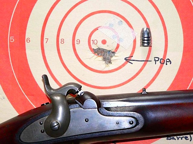 M1841 with Minie and 5 shots @ 50 yd target .jpeg