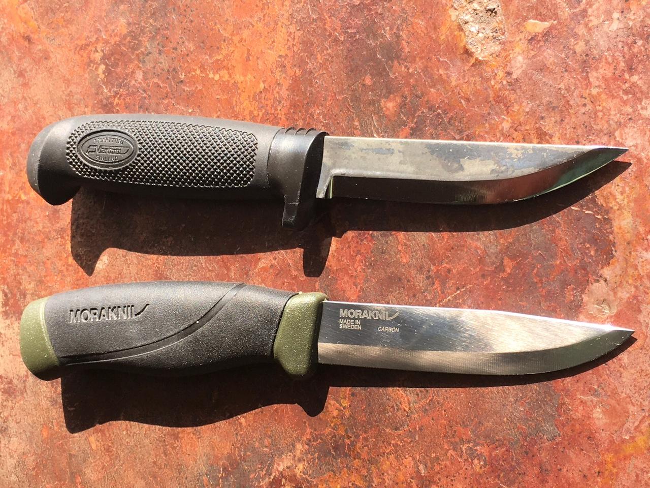 Martiini and Mora knives.jpg