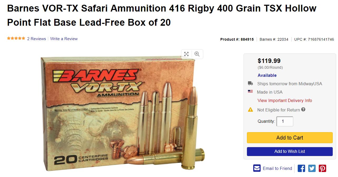 416 Rigby | Hunting