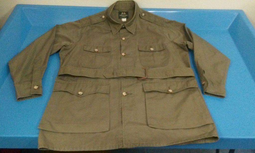 As New Willis Amp Geiger Bush Poplin Safari Jacket Belted 42