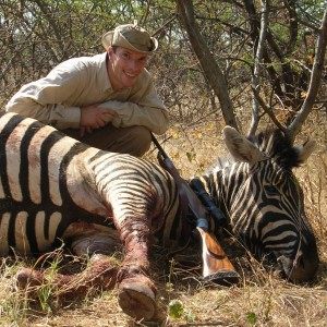 Burchell Zebra Hunting in Namibia