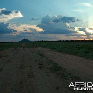 Sunset in Nambia