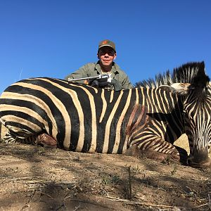 Handgun Hunting Burchell's Plain Zebra in South Africa