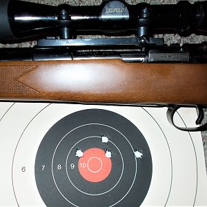 35 Whelen Rifle on a 98 Mauser action Range Shots