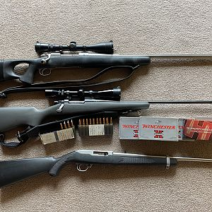 Custom Winchester M70 .338WM Rifle & Ruger 10/22 Rifle