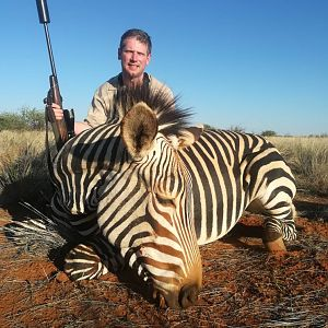 Hunt Hartmann's Mountain Zebra in Namibia