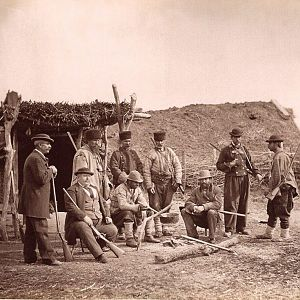 Hunting party in 1874 southern Romania