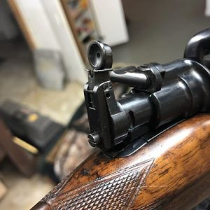 375 H&H by Holland & Holland Aperture sight windage adjustment