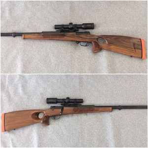 "Custom made Rifle based on the Mauser 66S system with 24"" barrel total length less than 44"""