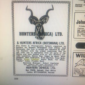 Old Botswana Hunting Advertisements