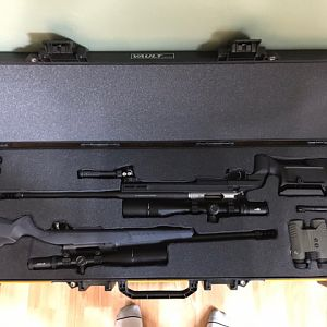 Hunting Rifles in Pelican double rifle case