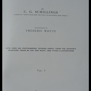 In Wildest Africa Book by C. G. Schillings