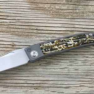 Kudu Bone Rinkhals Slip Joint Folder from African Sporting Creations