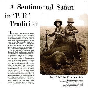 A Sentimental Safari In Theodore Roosevelt Tradition
