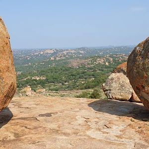 World's View, Rhodes grave in the Matobo National park Zimbabwe