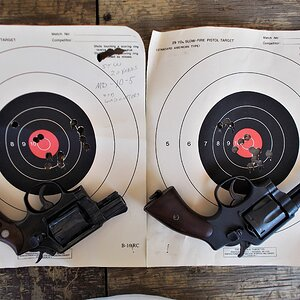 Smith& Wesson 38 Special Revolver Range Shots