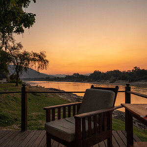 First sunset by the Luangwa River