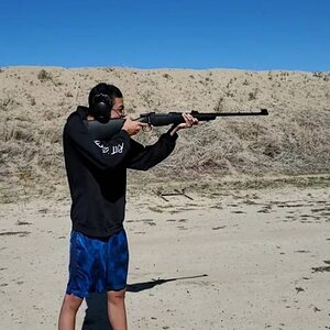 Range Shooting CZ 416 Rigby Rifle