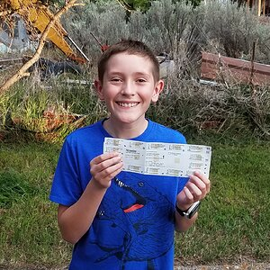 Grandson first hunting license