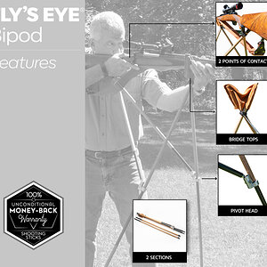 Fly's Eye Shooting Sticks from African Sporting Creations