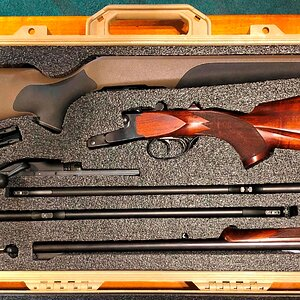 Pelican 1700 With Krieghoff .470 + Blaser R8 & 2 Barrels Rifle