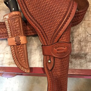 Leather Weapon Holster & Knife Sheath