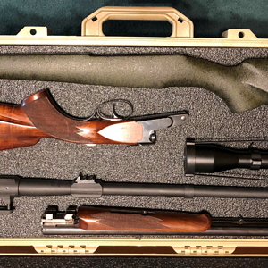 Double Rifle With Case