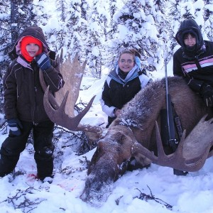 My daughters first BULL MOOSE