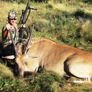 Hunting Eland cow in Namibia
