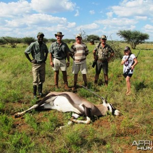 Hunting Oryx in Namibia