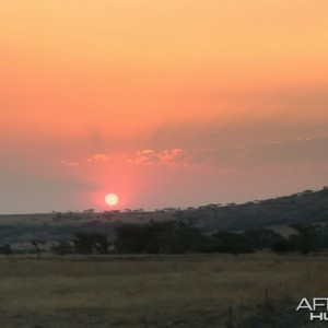 Sunset KZN province of South Africa