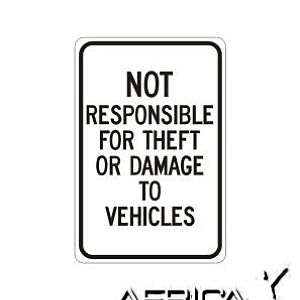 Theft sign...