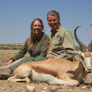 Springbuck trophy with Kowas Hunting Safaris