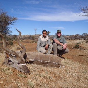 My kudu with PH Ivan and tracker Richard
