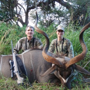"My daughter's 54"" Kudu shot in South Africa - 2011"