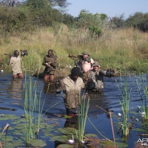 Crossing channels in Caprivi wetlands
