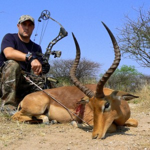 Impala bowhunted at Ozondjahe Hunting Safaris Namibia