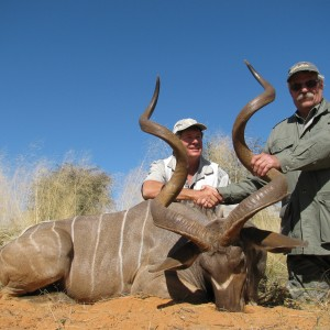 59 1/2 and 62 inch Kudu hunted in Namibia