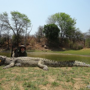 "14' 1"" croc - Zimbabwe October 2013"