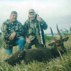 Cape Bushbuck with PH Lammie