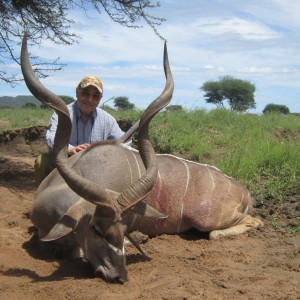 Kudu hunted with Ozondjahe Hunting Safaris in Namibia