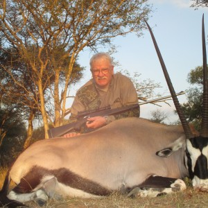 "40"" gemsbok after two days of hunting"