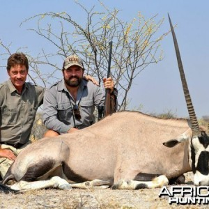 Gemsbok hunted at Westfalen Hunting Safaris Namibia