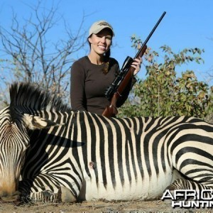 Hartmann's Zebra hunted at Westfalen Hunting Safaris Namibia