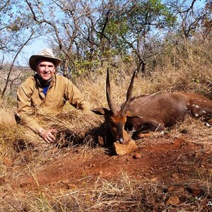 Leo and his bushbuck