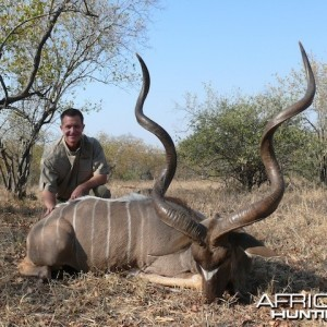 "Magnificent 63"" kudu taken recently on our concession."