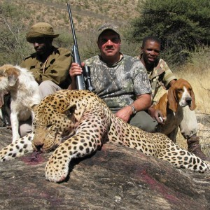 David Muti from Texas with record book leopard 2009